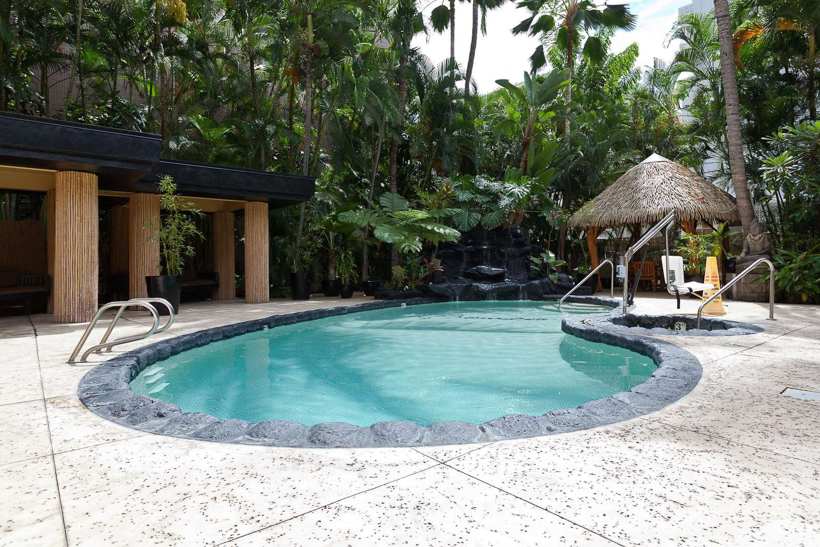 Great Pool and lounge area