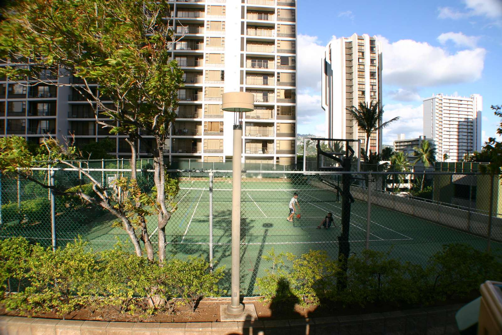 tennis court on the recreation deck