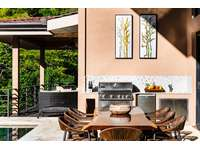 BBQ grill area, outdoor dining, poolside thumb