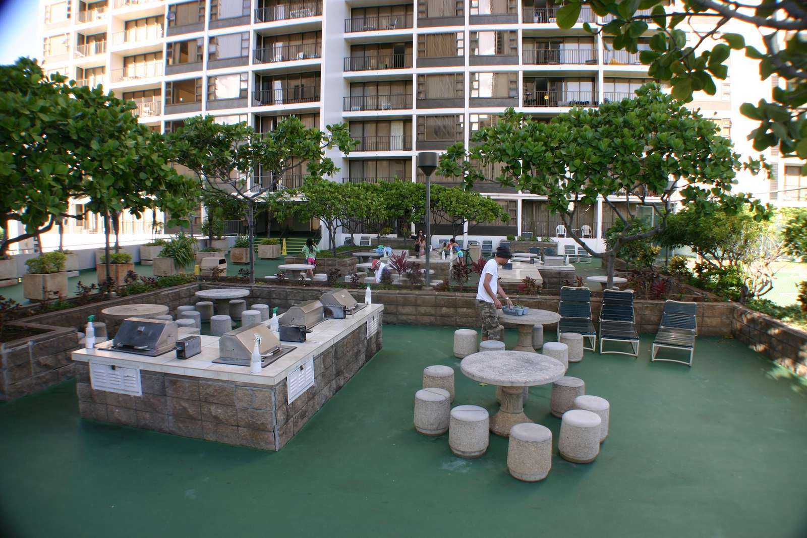 BBQ area on the recreation deck