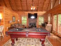 Pool Table and Living Room thumb