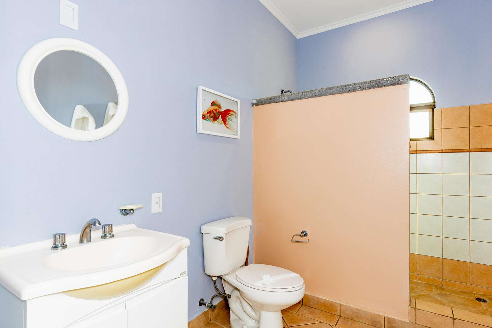 Guest full bathroom with walk in shower