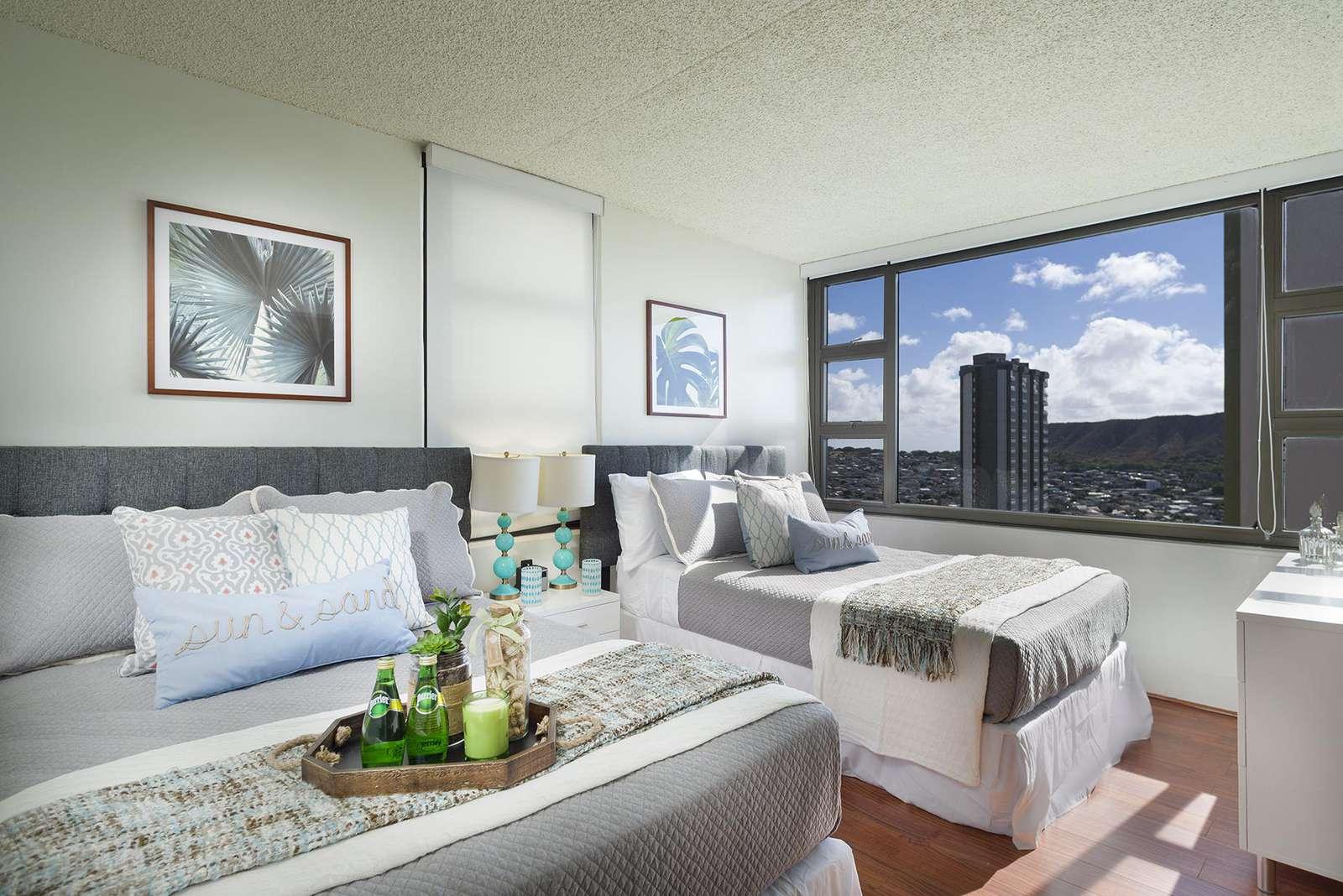 Amazing High Floor 1bd/1ba with Diamond Head Views at the Waikiki Banyan 2901 T1