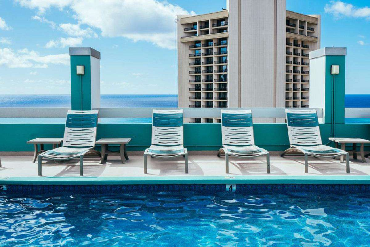 Lounge by the pool and enjoy the view!