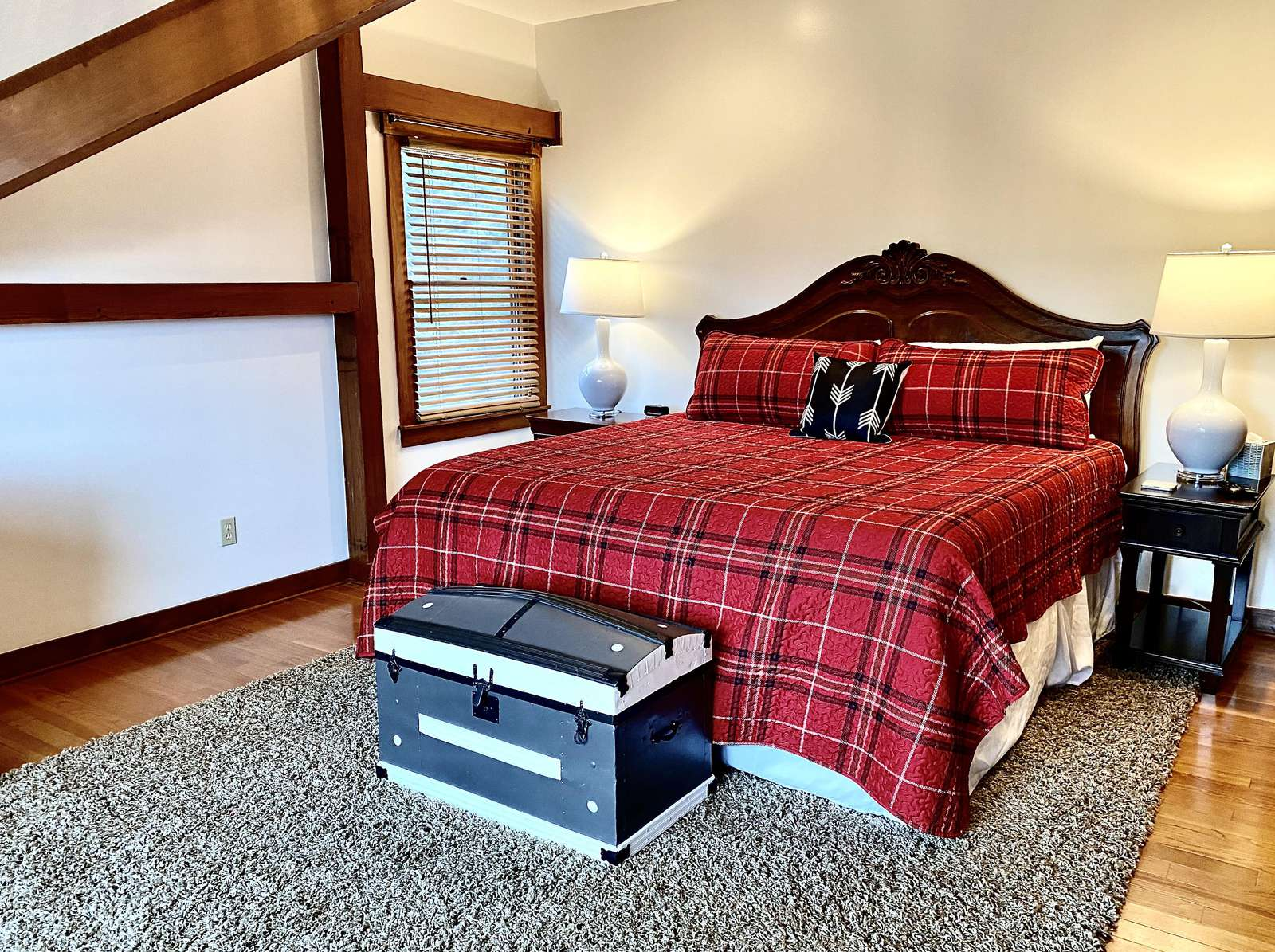 """Jr. Master Suite may just be the largest Bedroom. It has been said that the Uniquely Shaped Windows give you the feeling of """"Sleeping in a Snow Globe"""""""