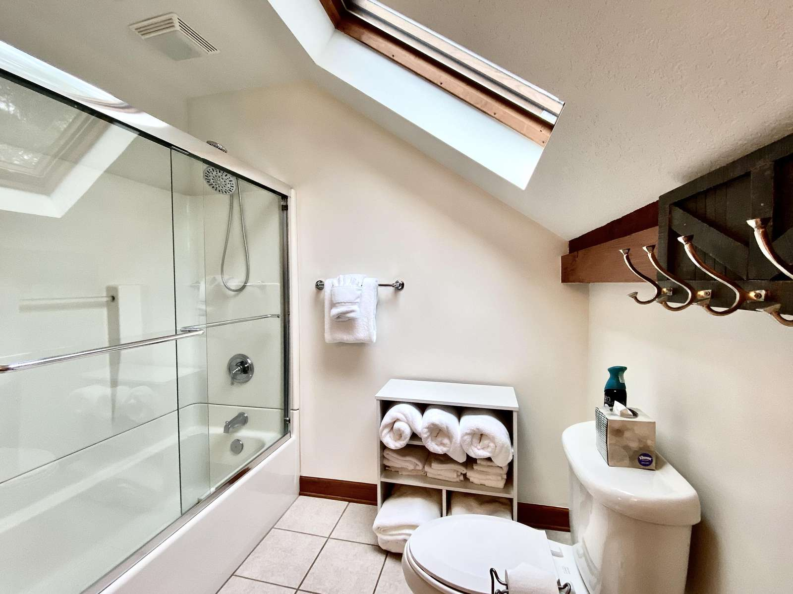 Upstairs Full Bathroom is Large and Light Filled