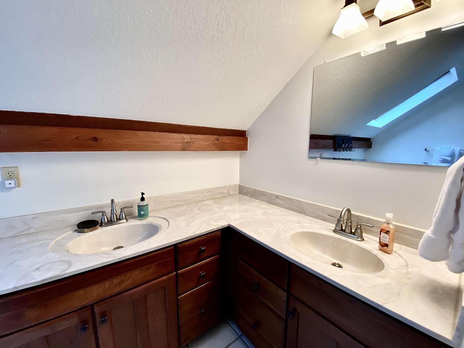 Dual Sinks in the upstairs Bathroom