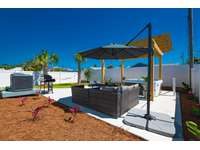Seating and shaded areas for lounging, dining and conversing! thumb