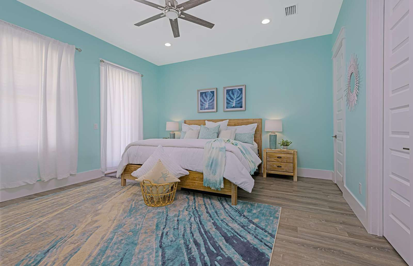 The largest of the 4 bedrooms with a king bed!