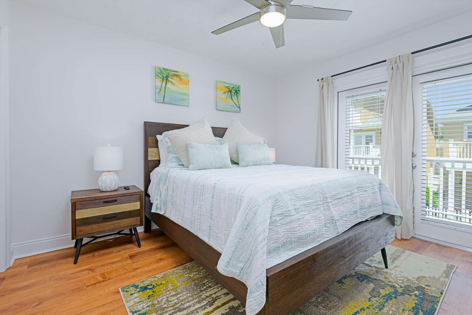 Comfy and updated bedding throughout! Basic linen provided!