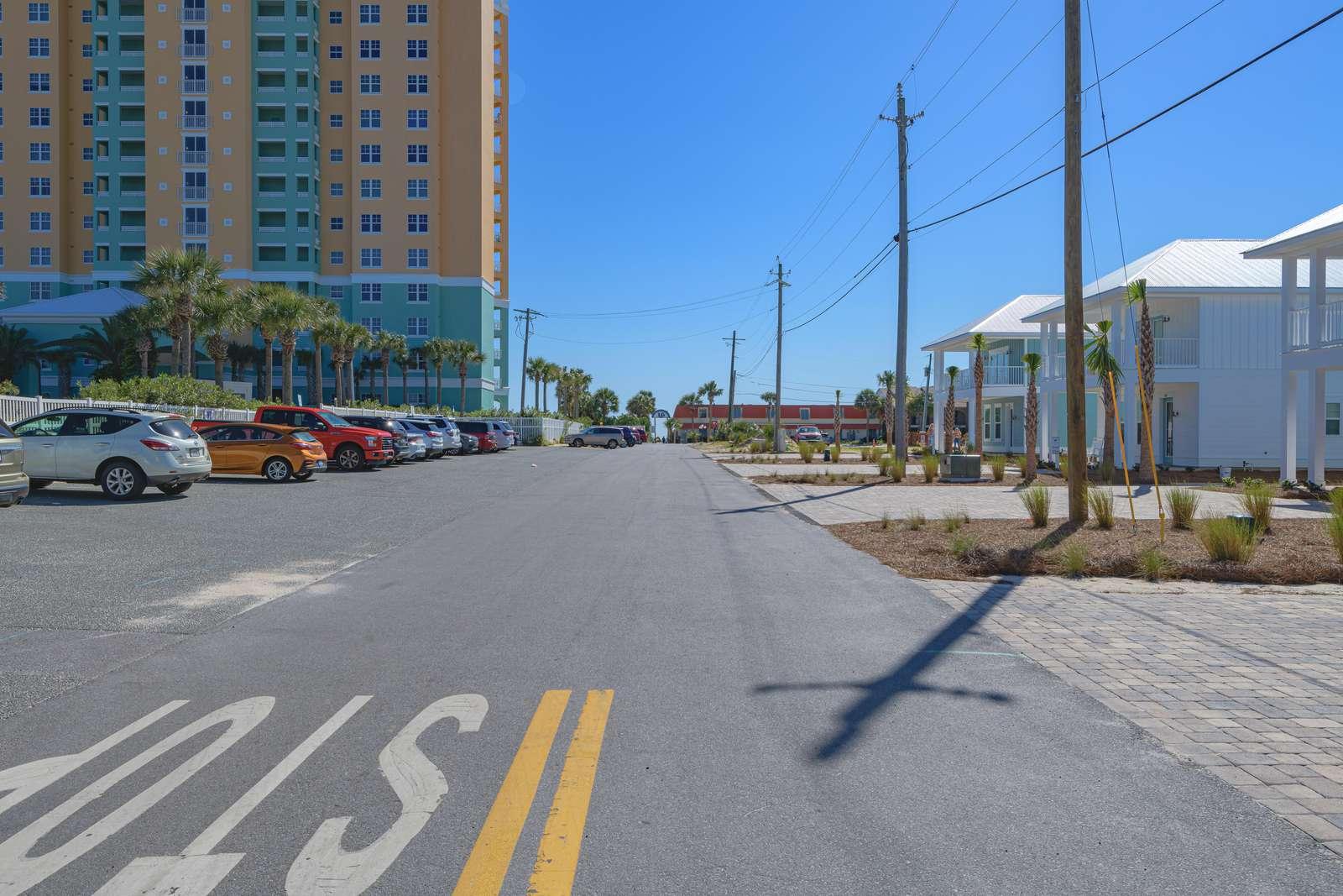 A short walk to Beach Access #16! Public parking!