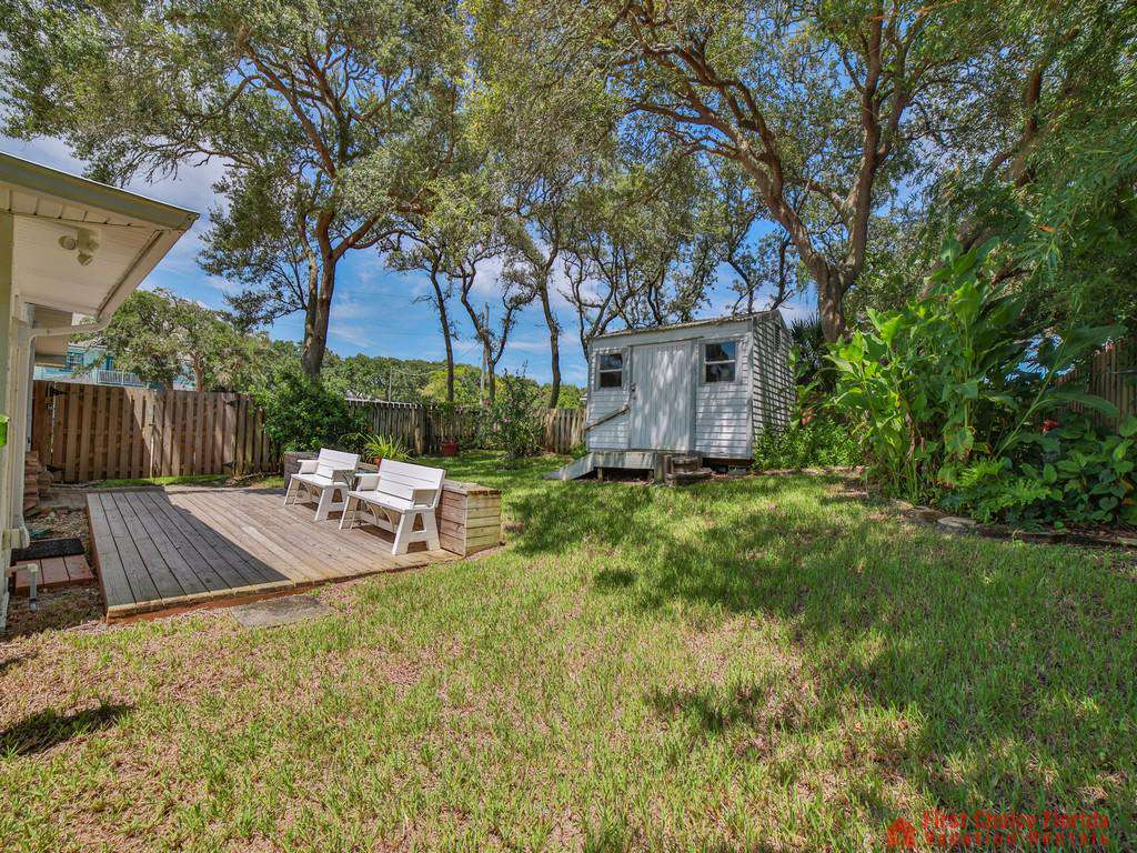Shore Happy Backyard with Deck