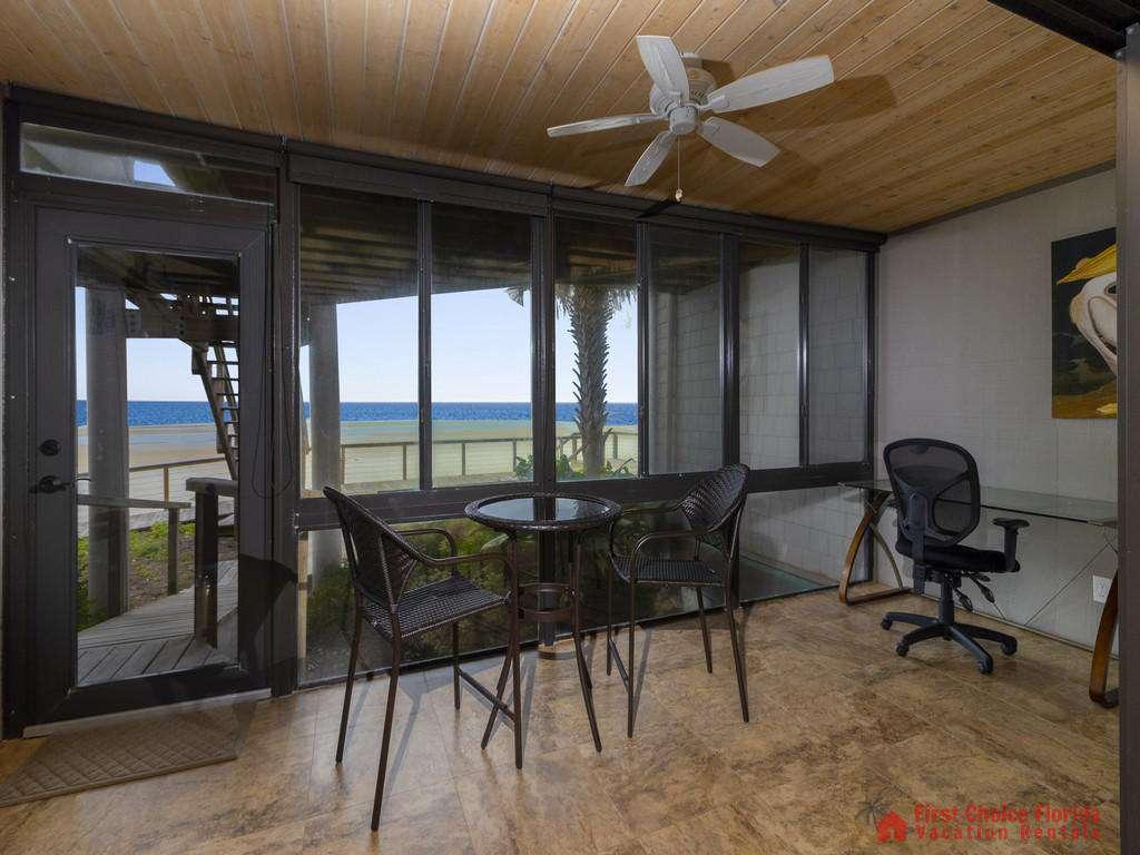 Sea Matanzas 4 - Glassed in Veranda off of Master Bedroom