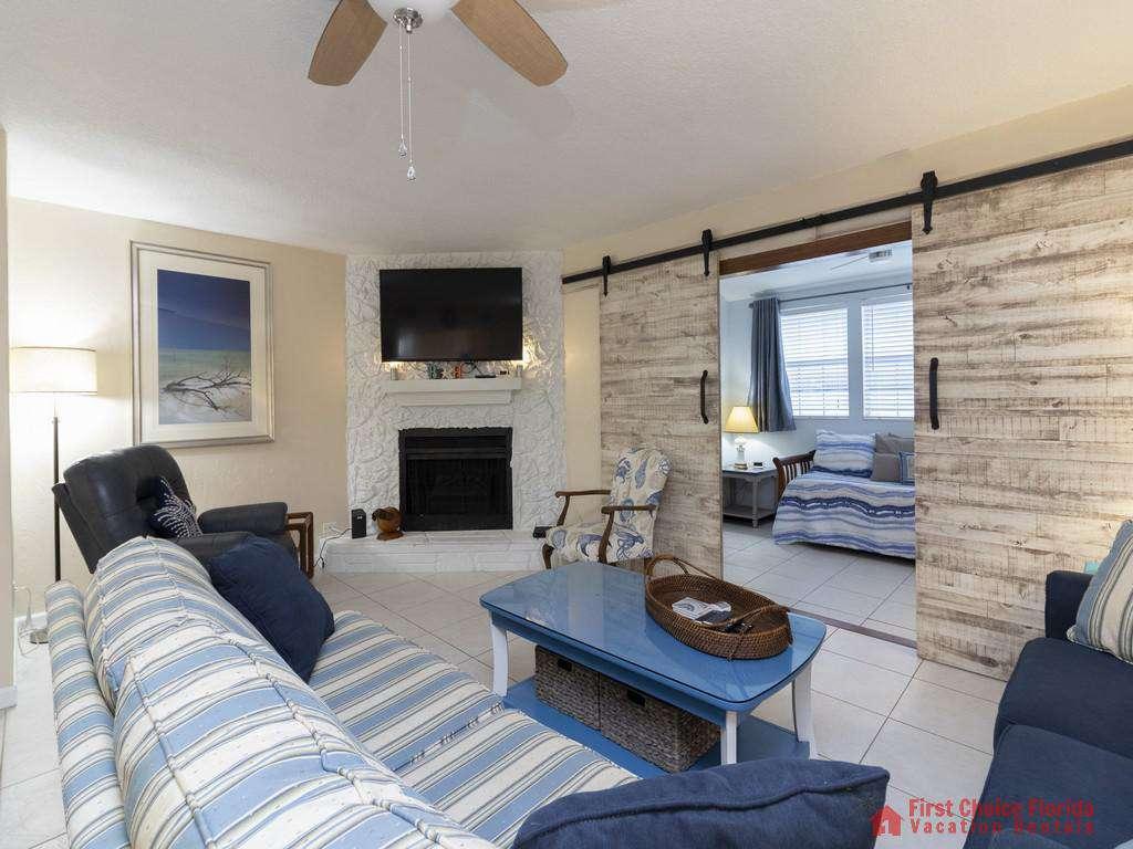 Tarpon Run 35 - Living Room Entrance to First Floor Bedroom