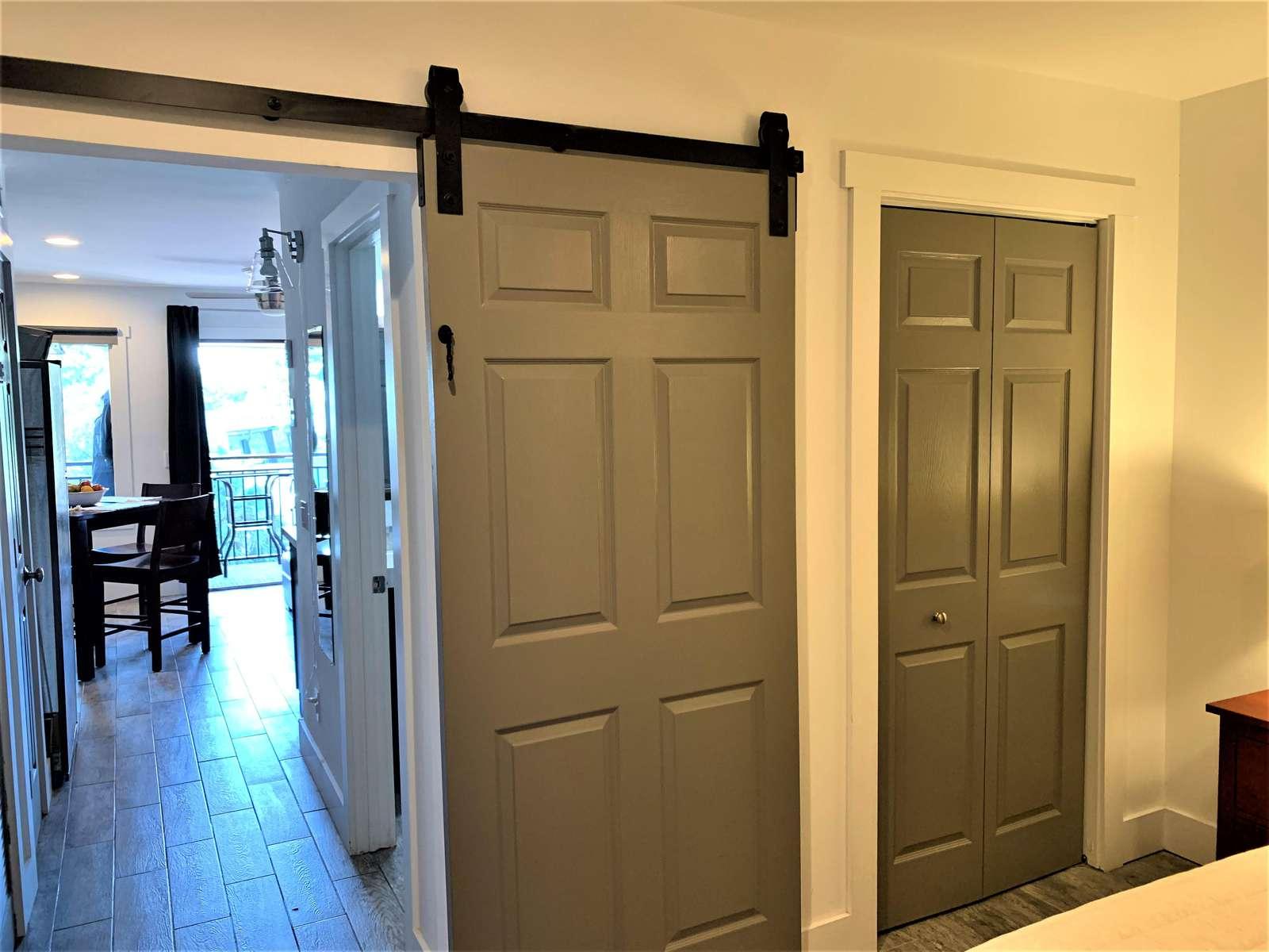 Barn Door for Sleeping Privacy in Bedroom