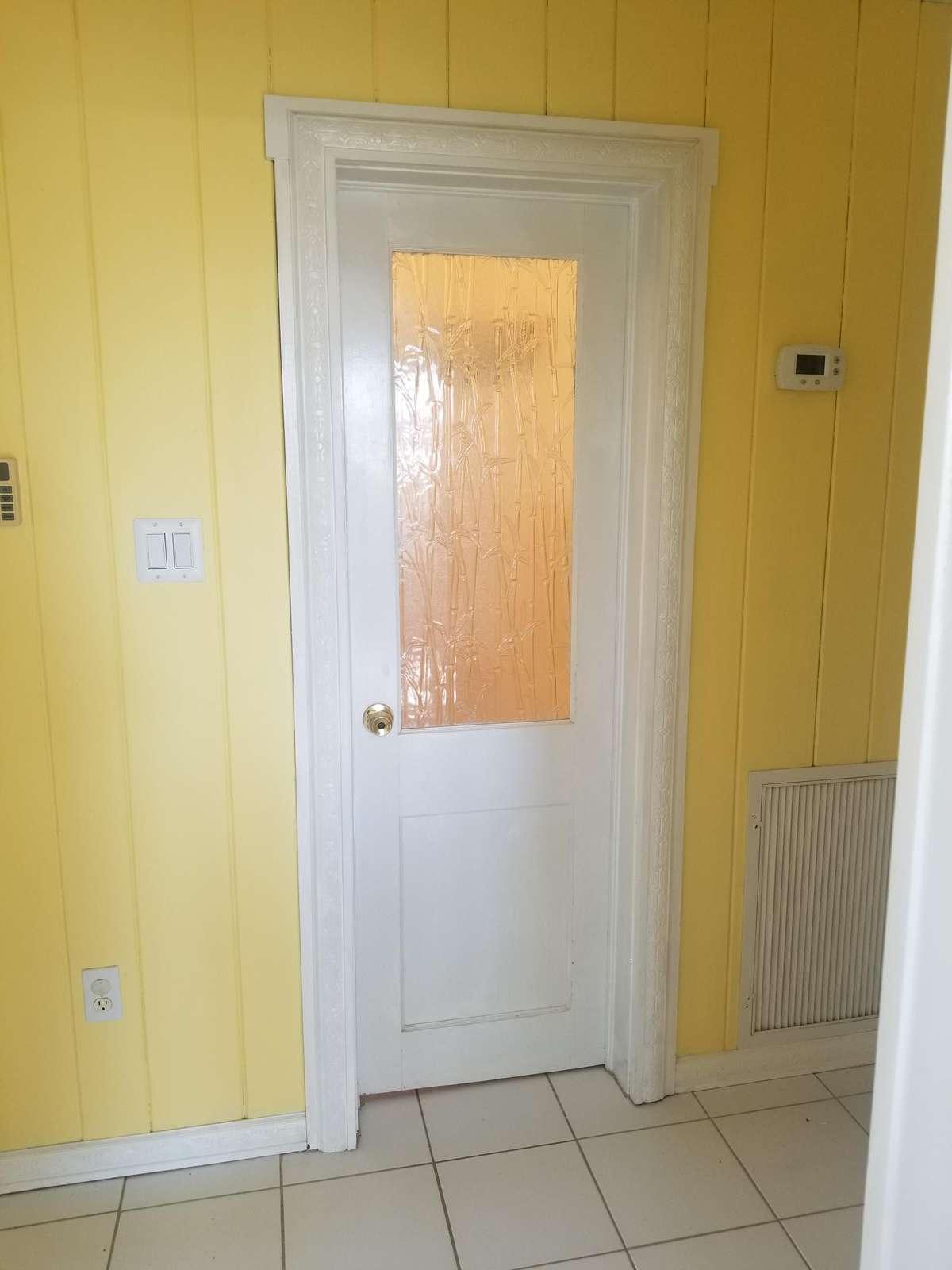 Bathroom with vintage door