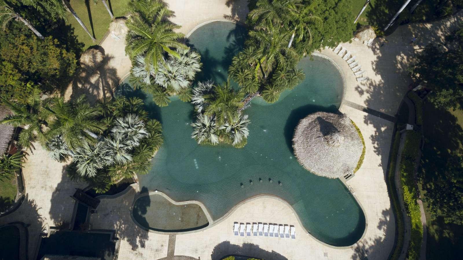 Aerial view of Diria Resort pool