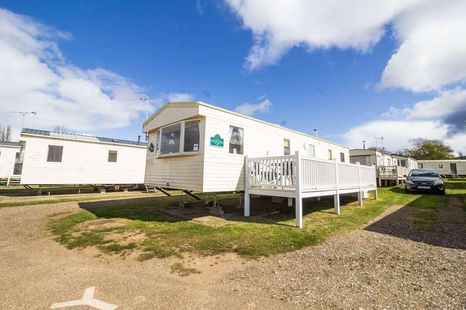 23017S – Sandringham area, 3 bed, 6 berth caravan with decking. Emerald rated. - property