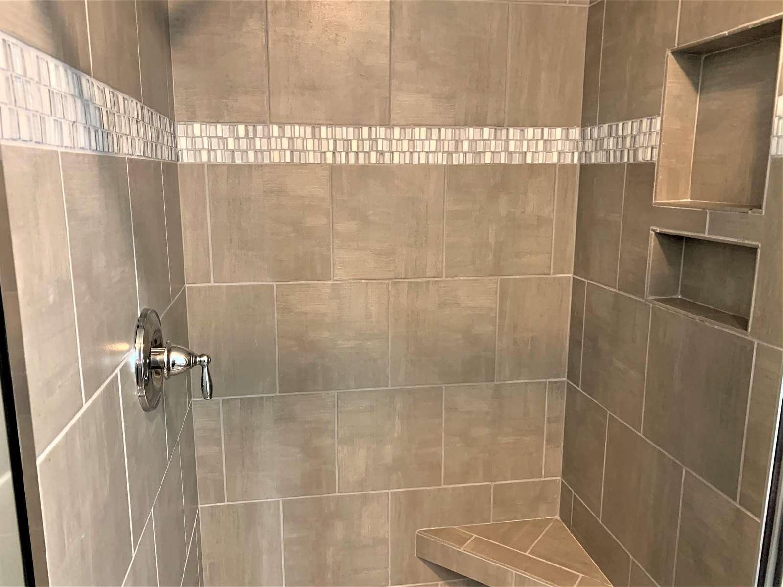 Walk-in Tiled Shower on 3rd Floor