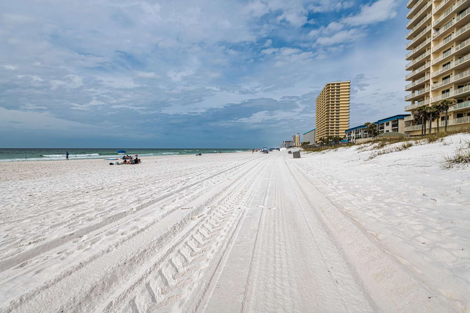 Miles of sandy beach off your back patio!
