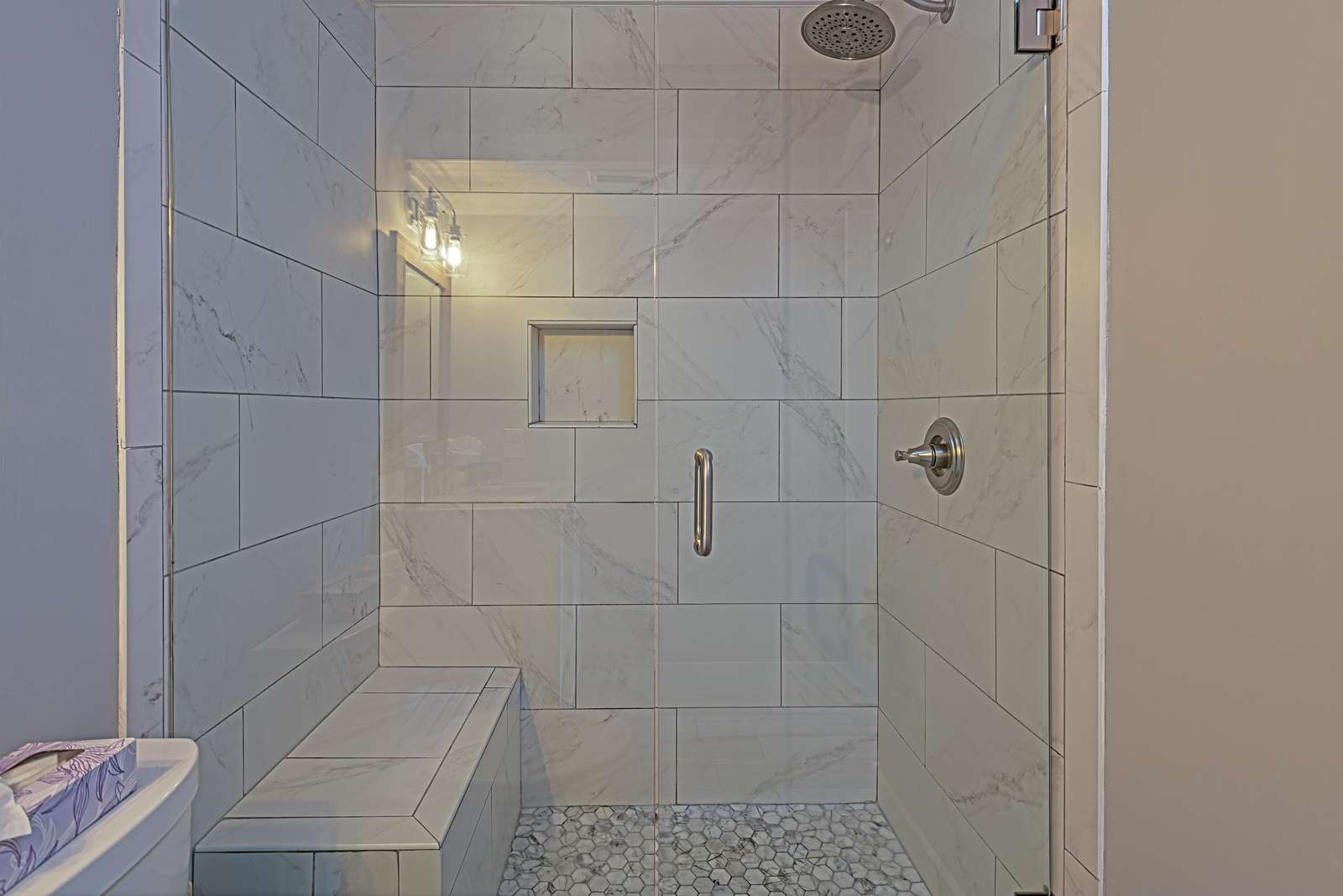 All 3 baths have walk-in showers!