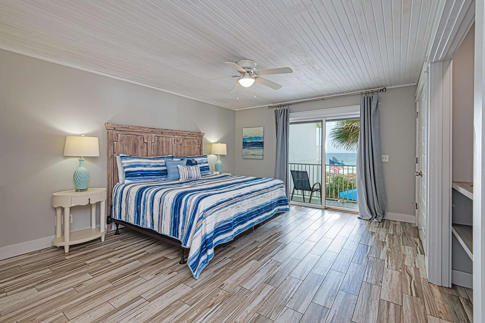 Spacious master bedroom with private balcony!