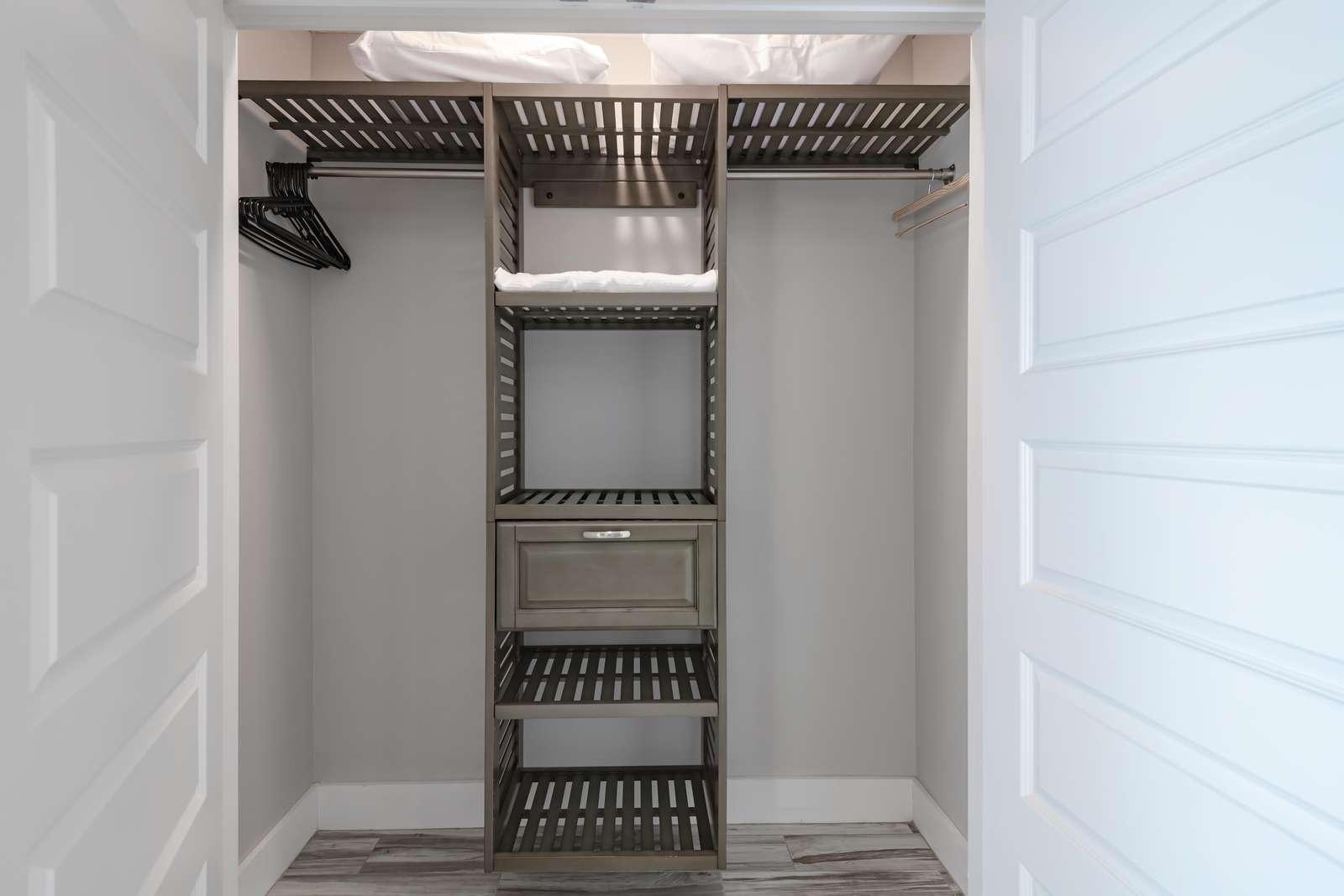 Built in closet shelving!
