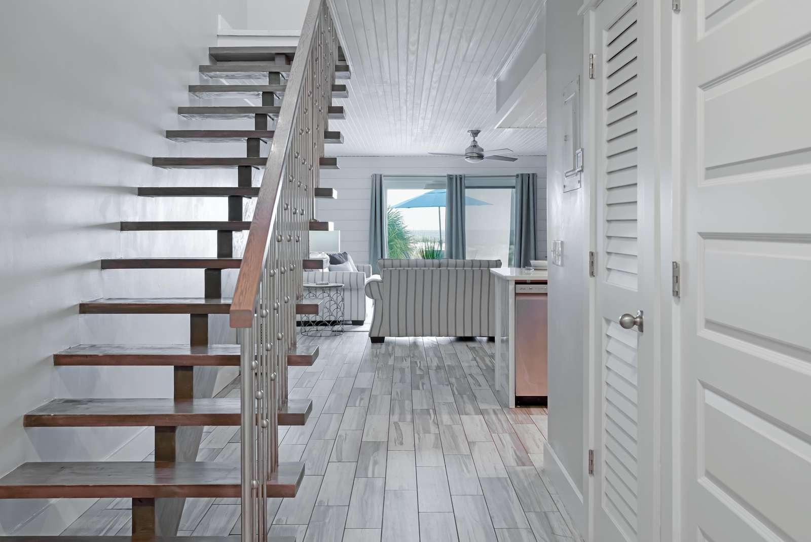 Beautiful custom stairs!
