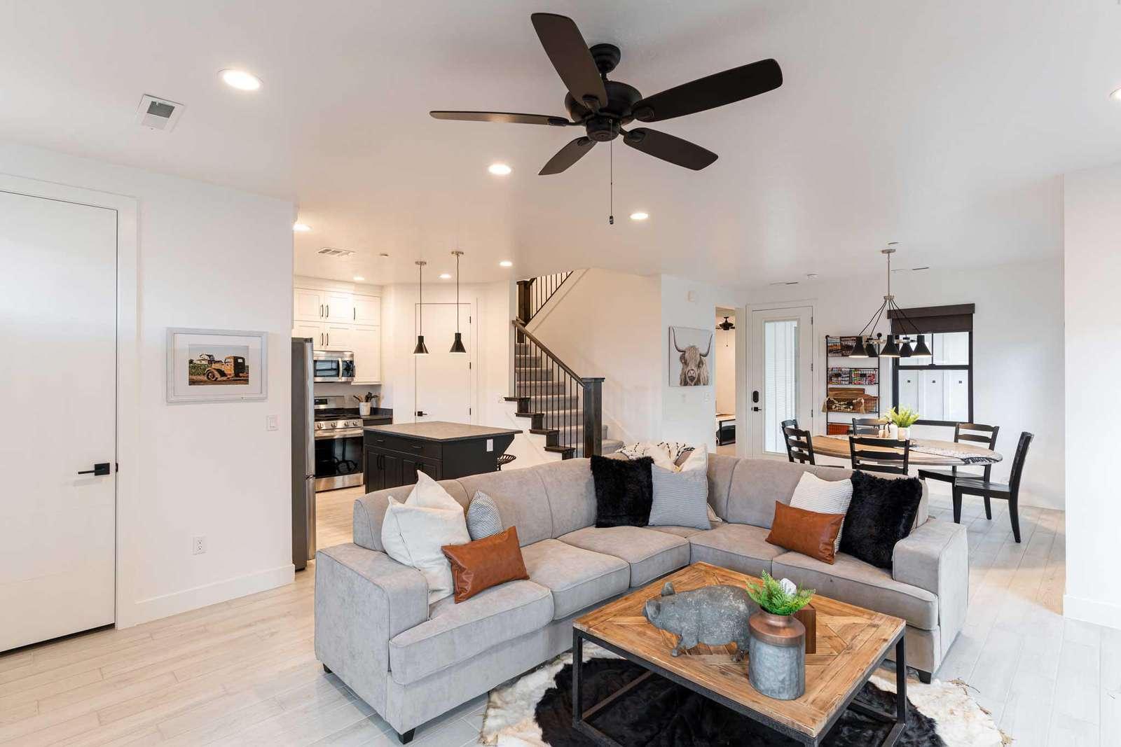 Open floor living space