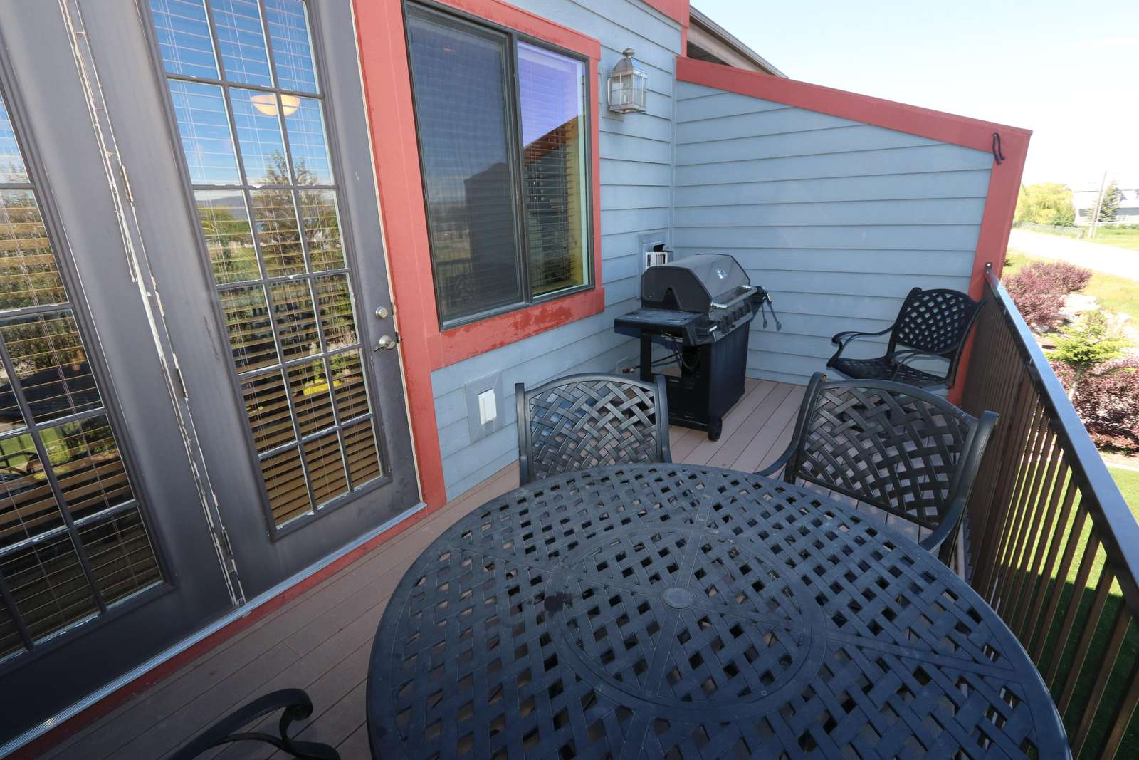 Deck with grill and furniture