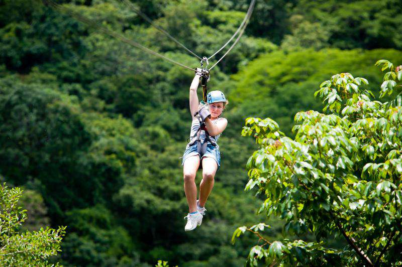Zip lining adventures nearby