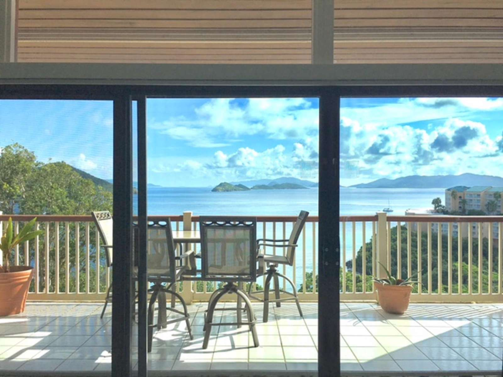 Balcony with Views to the BVI