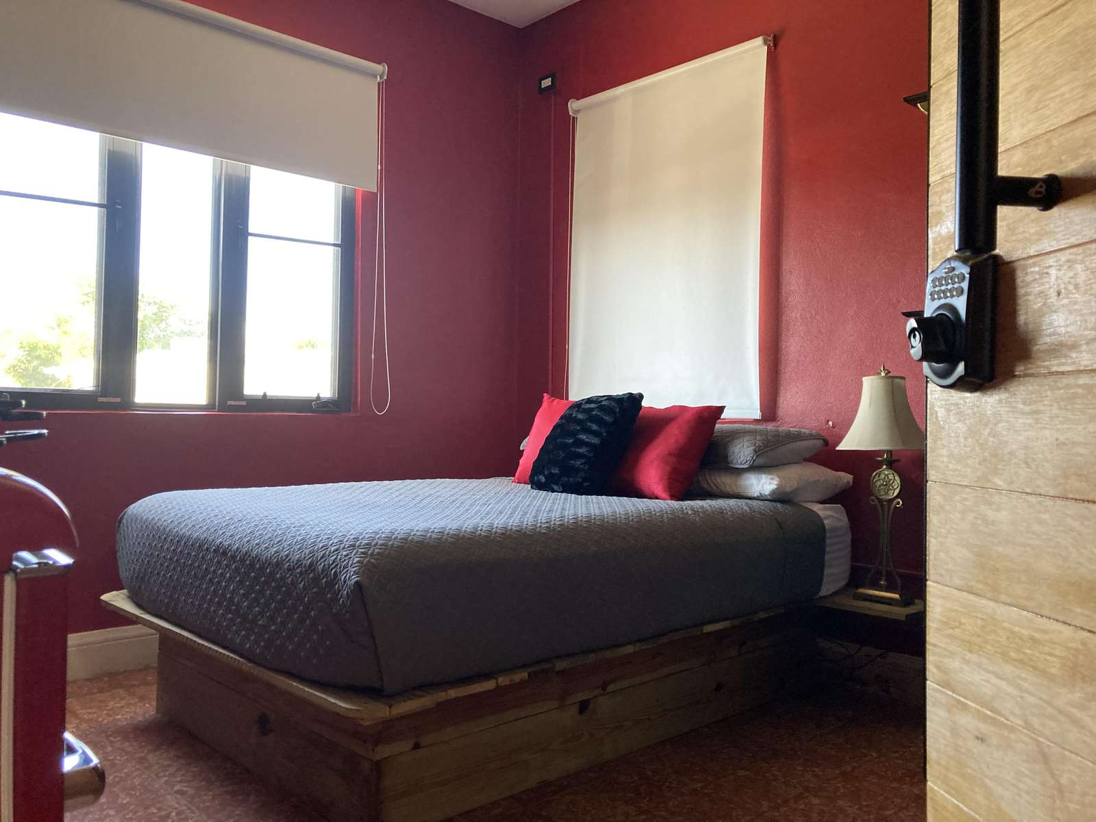 Queen Bed in Our Red room - property