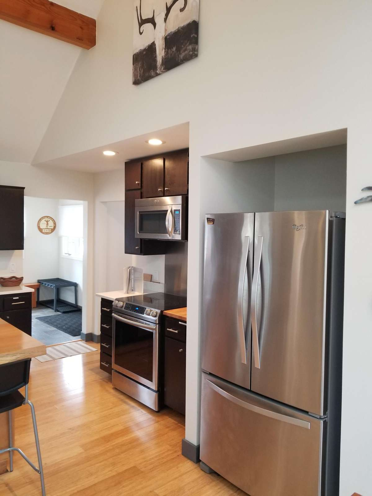 Large Stainless Fridge & Stove Top/Oven