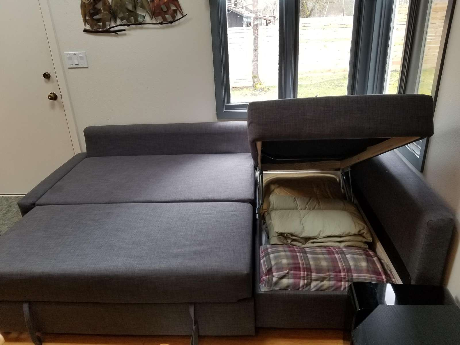 Trundle Sofa with Ottoman Storage for bedding