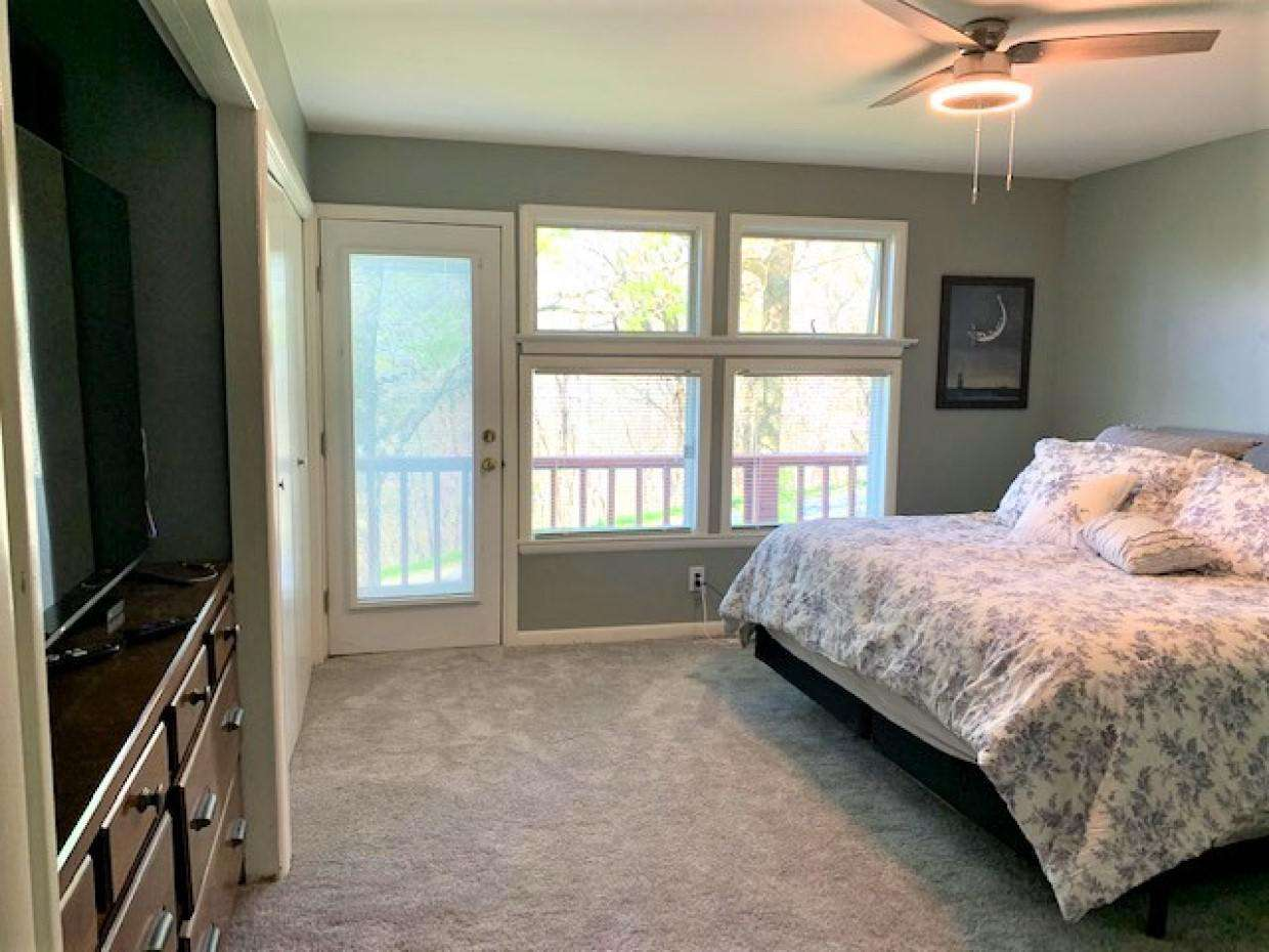 Mater bedroom with king bed