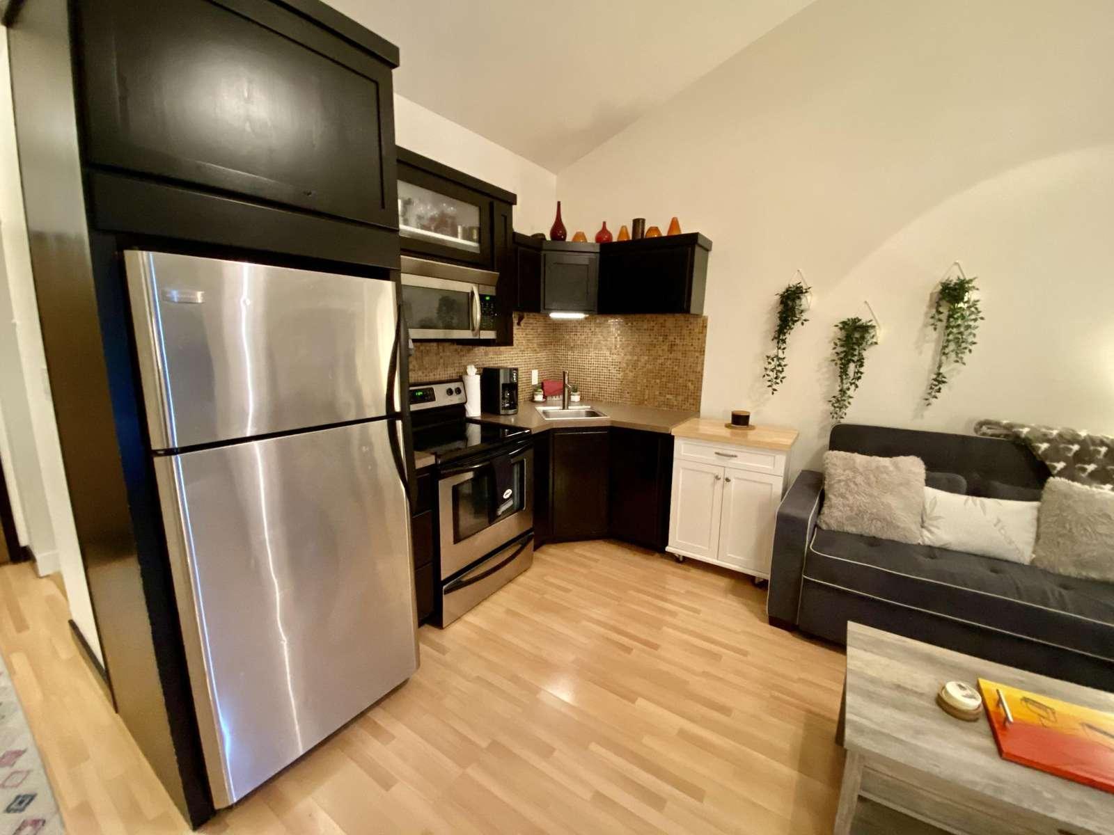 Full fridge to store food for long stays