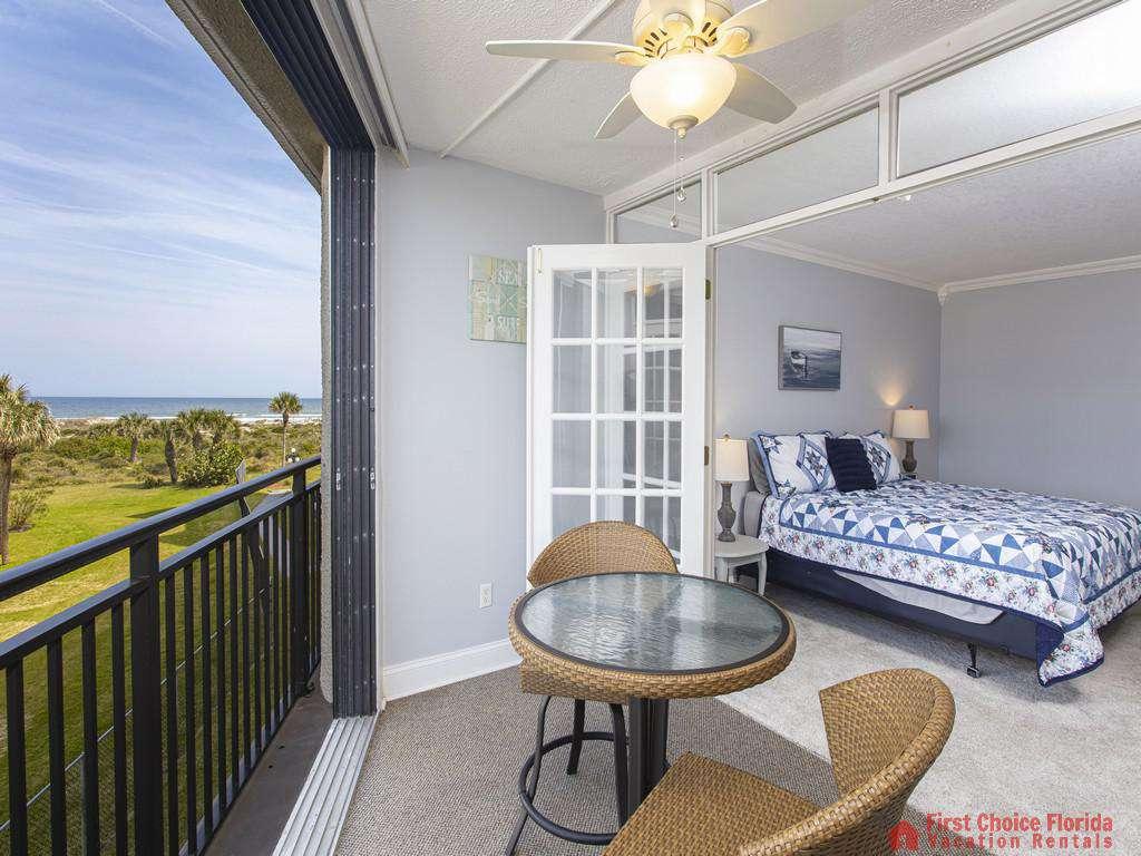 Anastasia 314 Patio to Bedroom with Ocean Views