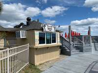 Summertime Ice Cream Stand on the Boardwalk to the Beach thumb