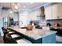 Huge Granite Island with Seating for 4 thumb