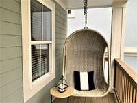 His and Hers Cozy Swings on Private Master Deck thumb