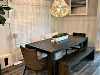 Stylish Farmers Table in Dining Area with Seating for 9 thumb