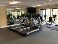 Fitness Room for guest use.  Get a card at front desk $5 deposit and get it back when you return card thumb