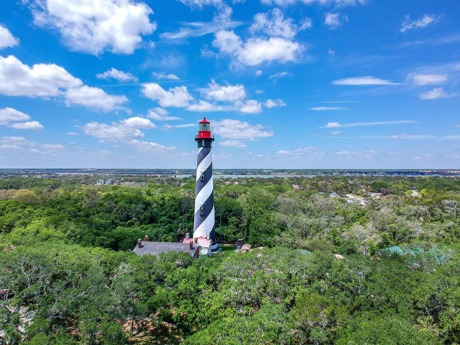 Aerial Photo of Lighthouse