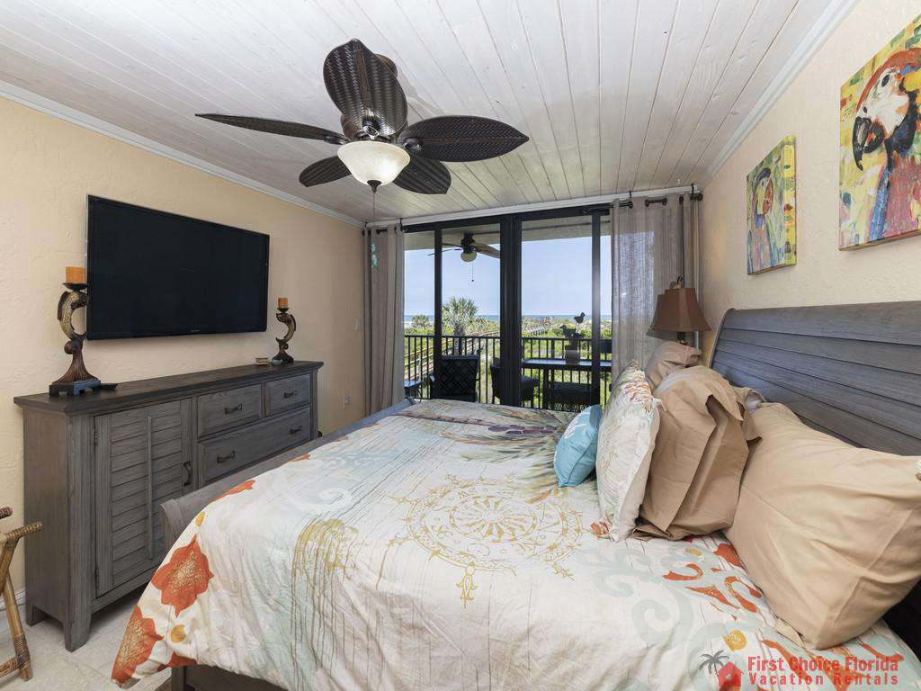 Captains Quarters - Master Bedroom with TV