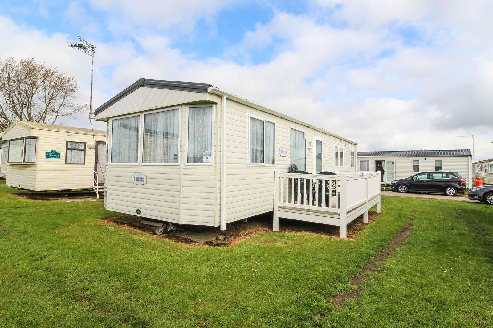 50008B – Bittern area, 3 bed, 8 berth caravan with decking. Ruby rated. - property