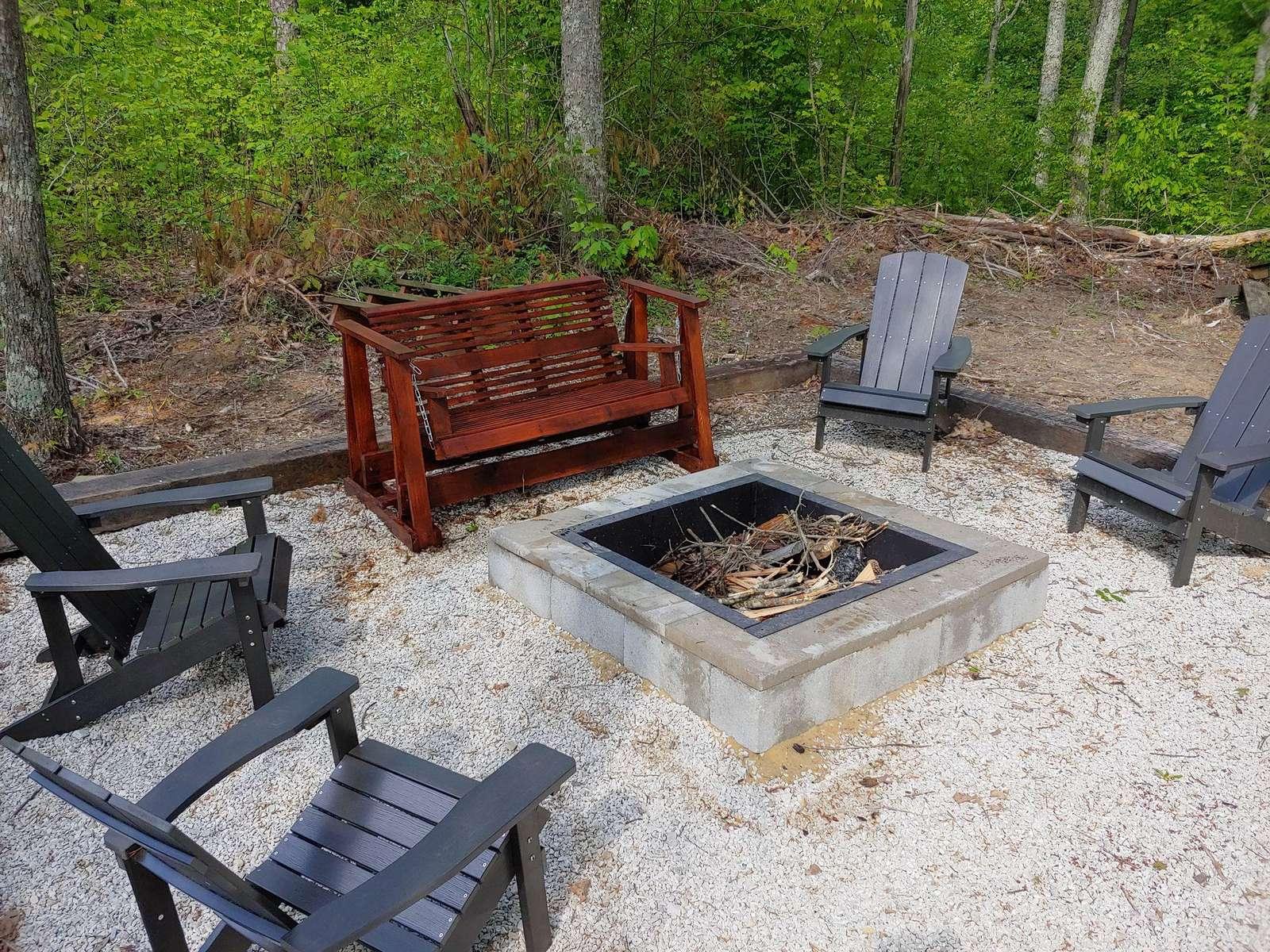Firepit Bear Naked Cabin