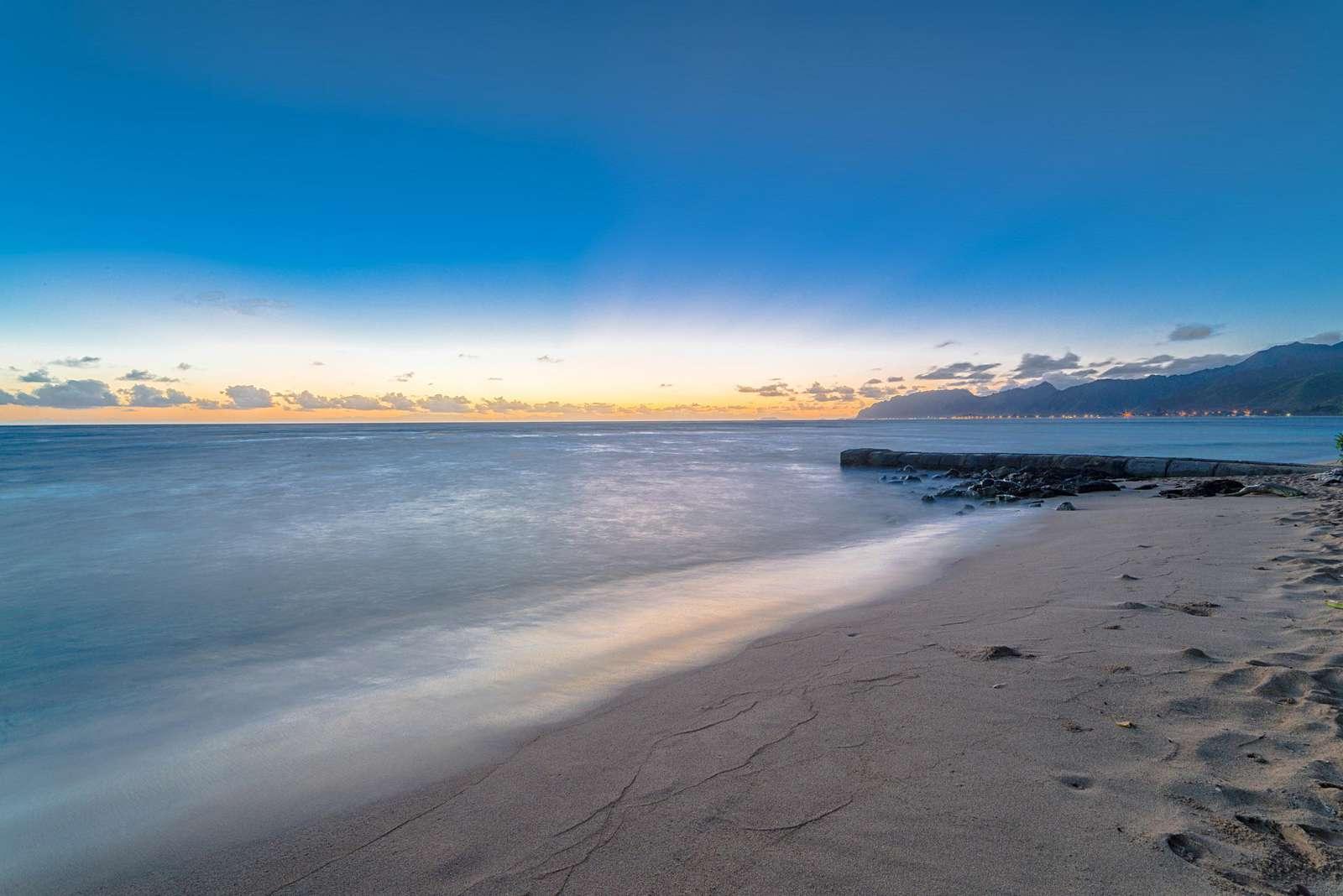 Early morning dawn at beach of Tiki Moon Villas  - property