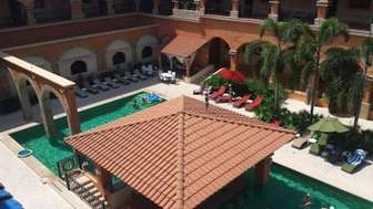 View of pool from main door terrace/hallway thumb