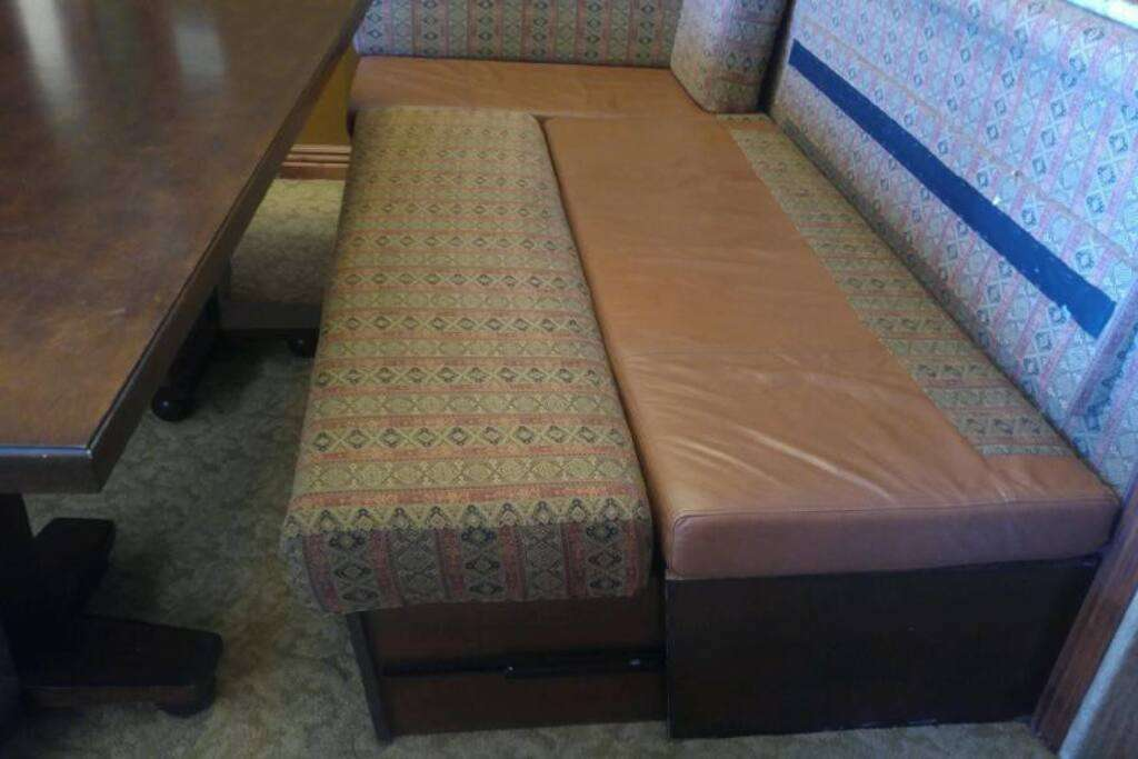 5th sleeping option - bench converts to bed.